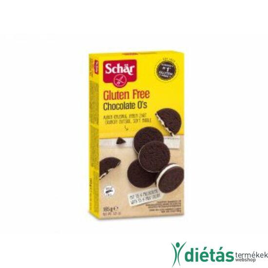 Schär Chocolate O's gluténmentes kakaós keksz tejkrémes töltelékkel 165 g