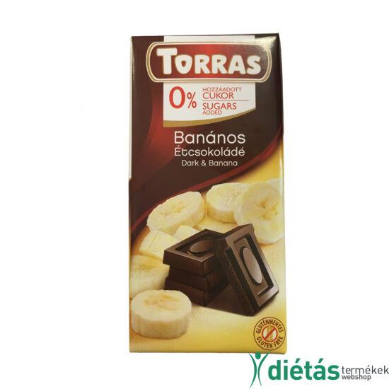 Torras Banános étcsokoládé hozzáadott cukor nélkül 75 g
