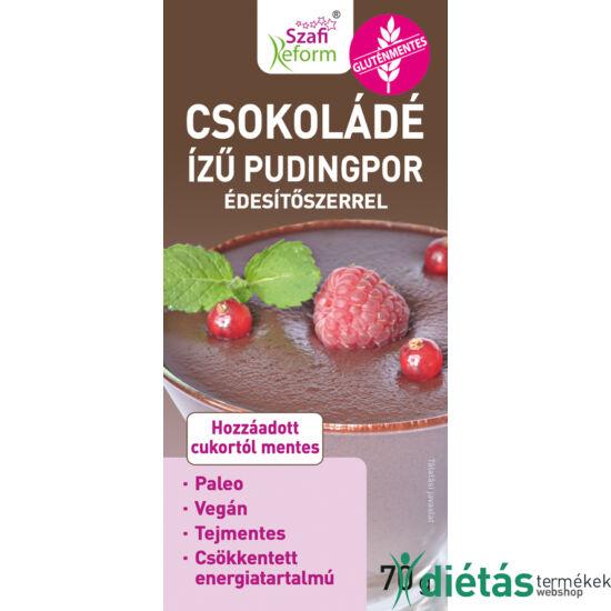 Szafi Reform csokoládé ízű pudingpor édesítőszerrel 70 g (paleo, vegán, glutén-, és tejmentes)