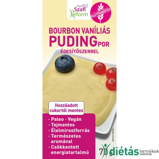 Szafi Reform Bourbon vaníliás pudingpor édesítőszerrel (gluténmentes, paleo, vegán) 70 g