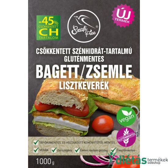 Szafi Free csökkentett szénhidrát-tartalmú bagett / zsemle lisztkeverék (gluténmentes) 1000 g