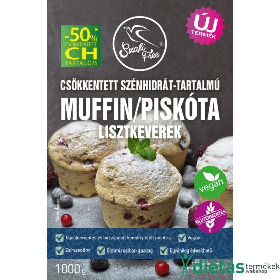 Szafi Free Csökkentett szénhidrát-tartalmú muffin / piskóta lisztkeverék (gluténmentes) 1000g