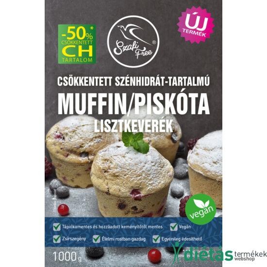 Szafi Free Csökkentett szénhidrát-tartalmú muffin / piskóta lisztkeverék 1000g