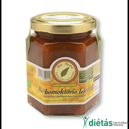 Berta Bio homoktövis lekvár  (mézzel, és nádcukorral) 196 ml