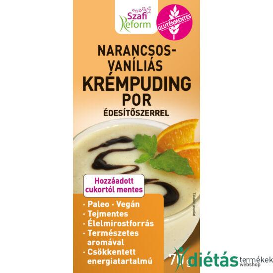 Szafi Reform Narancsos-vaníliás, krémpuding édesítőszerrel 70 g