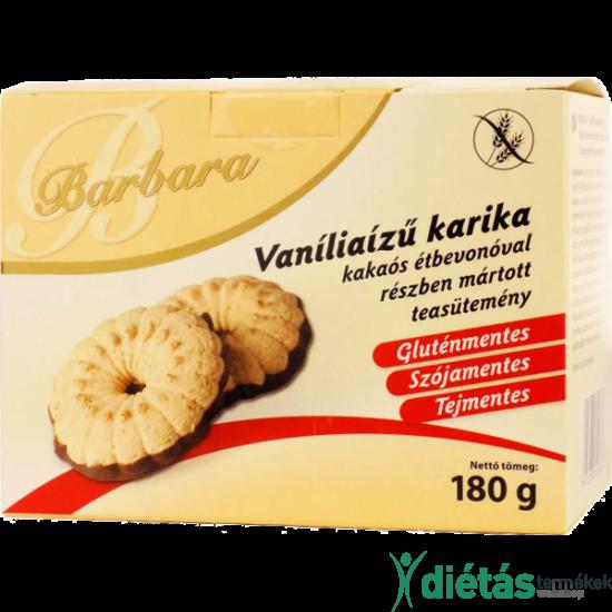 Barbara gluténmentes vaníliás karika 180g