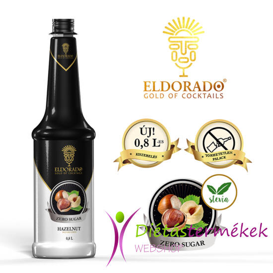 Eldorado cukormentes mogyoró szirup 0,8 liter
