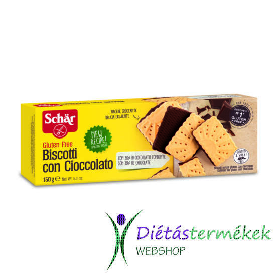 Schär Biscotti csokoládés keksz (gluténmentes) 150 g