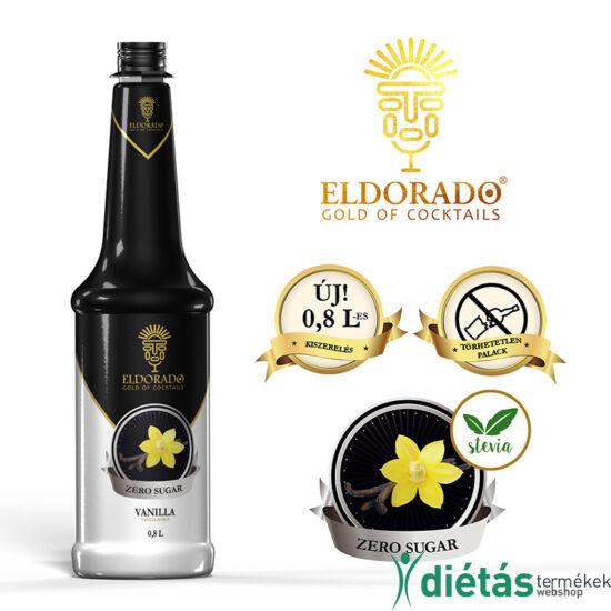 Eldorado cukormentes vanília szirup 0,8 liter