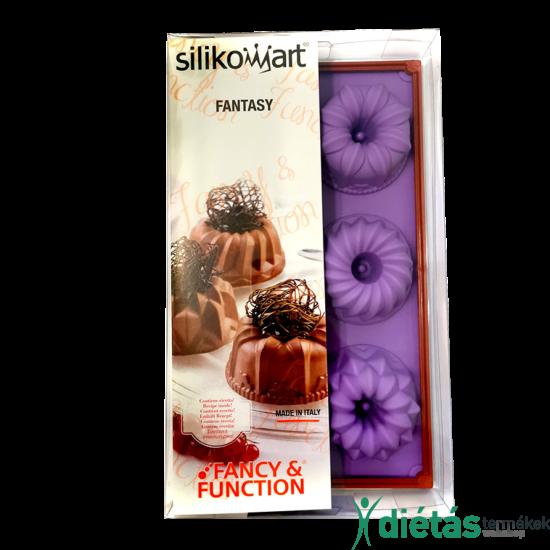 Silikomart muffinsütő forma lila színben 6db-os