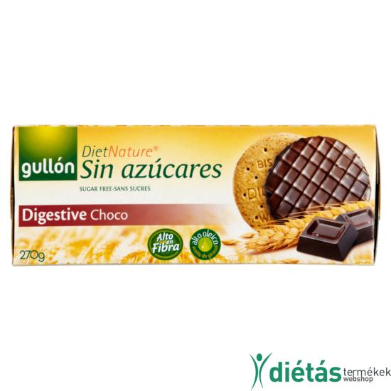 Gullon Chocodigestive keksz (hozzáadott cukormentes) 270 g