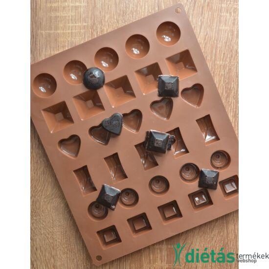 Szilikon vegyes csokoládé forma 30 db-os