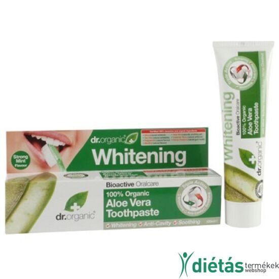 Dr.Organic BIO aloe vera Fogfehérítő fogkrém érzékeny fogakra 100 ml