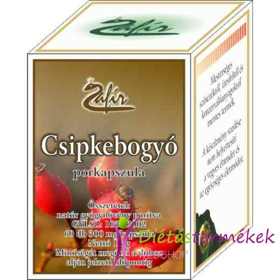 Zafír Csipkebogyó Porkapszula, C-vitamin pótlásra 60 db