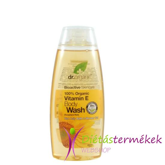 Dr.Organic BIO E-vitaminos tusfürdő 250 ml