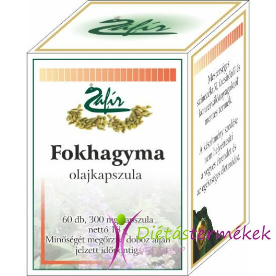 Zafír Fokhagyma Olajkapszula, vírusölő, baktériumölő, fertőtlenítő 60 db