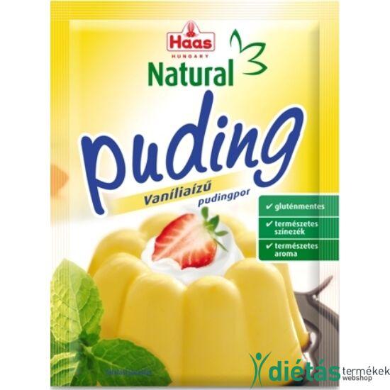 HAAS Natural Gluténmentes VANÍLIÁS Pudingpor 40 g