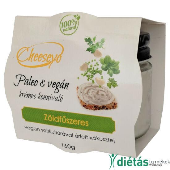 Hideg Nyalat Cheeseyo zöldfűszeres vegán sajtkrém 160g