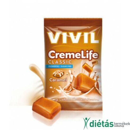 VIVIL Hozzáadott Cukormentes Tejszínes-Karamellás keménycukorka 40 g