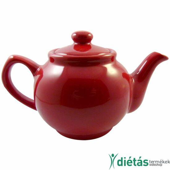 Annaburg teáskanna porcelán - piros 1,2 L