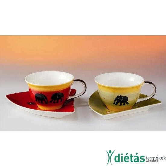 Sambesi kerámia teás csésze és csészealj szett